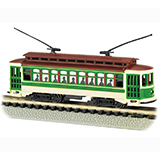Bachmann 61093 Lighted Brill Trolley Green N