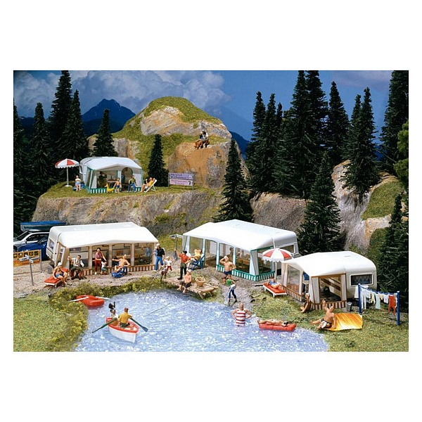 Faller 130503 Set of camping Caravans