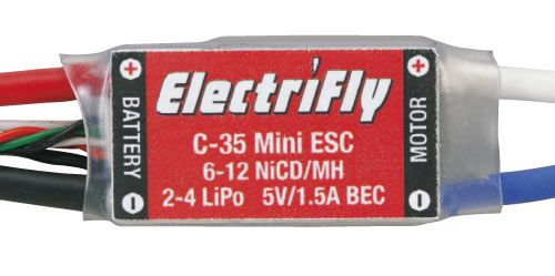 Great Planes 2035 ElectriFly C-35 Mini Brushed ESC w/BEC.