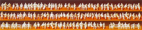 Preiser 79007 Seated persons. 120 unpainted miniature figures Kit.